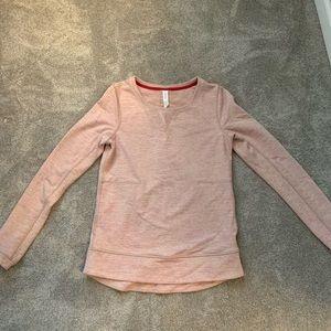 Lululemon pink sweat shirt